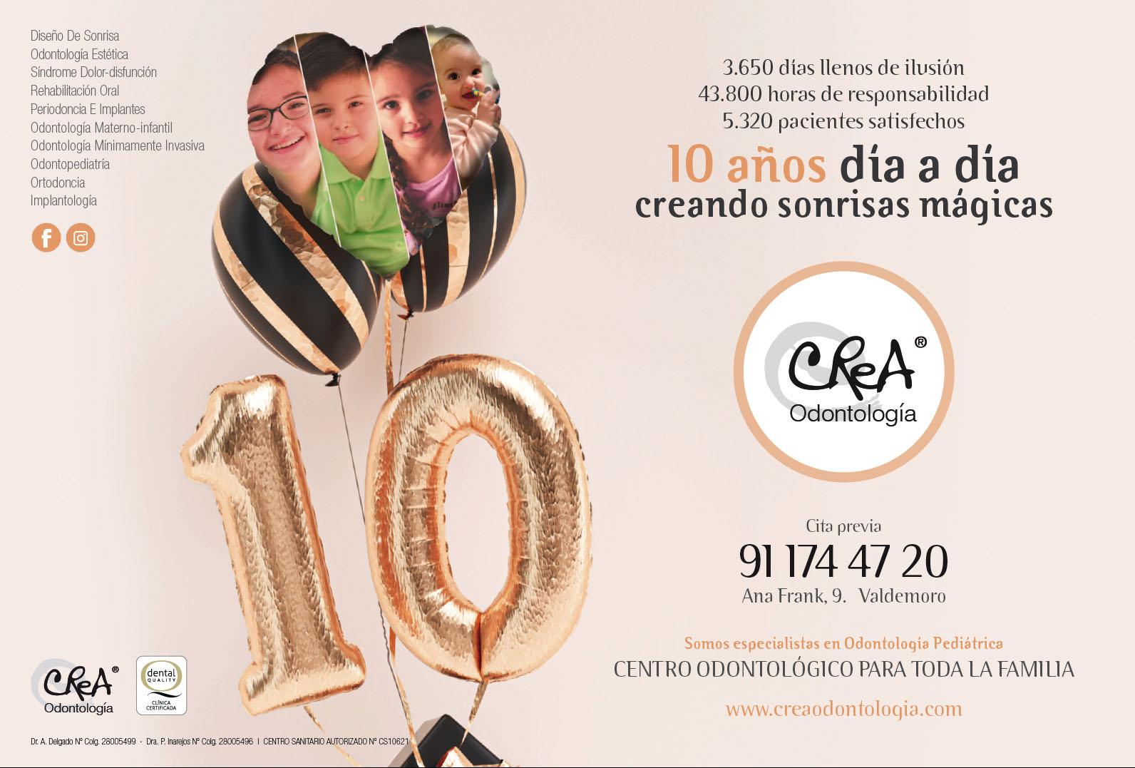 aniversario 10 de crea odontologia valdemoro
